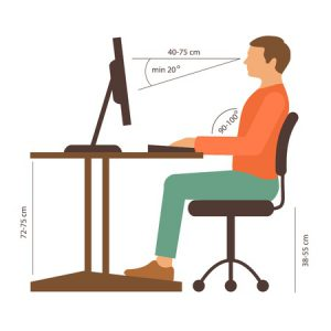sitting position for a heathy back
